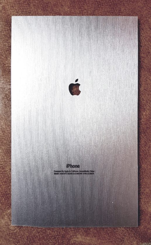 Metallic Matte Texture Aluminium Iphone Lamination