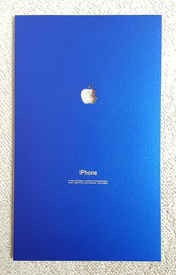 another chance 10314 0b0b3 Metallic Matte Blue iPhone Lamination