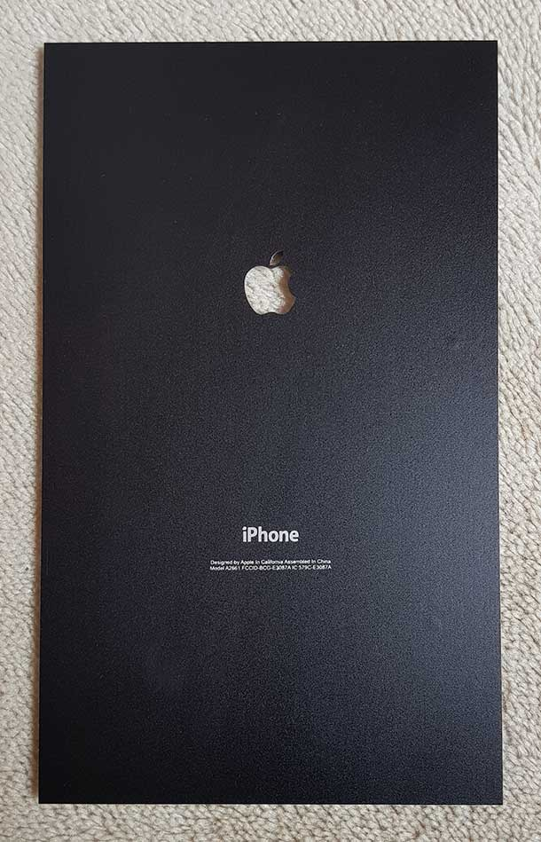 Wood Matte Yellow Horizontal iPhone Lamination
