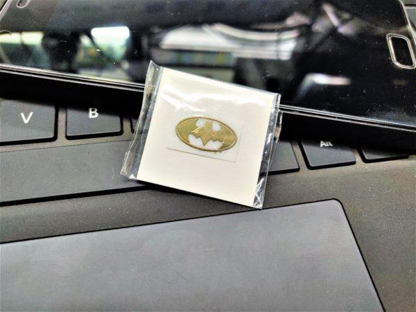 Bat Man Gold Metal Logo