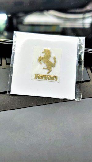 Ferrari Gold Metal Logo