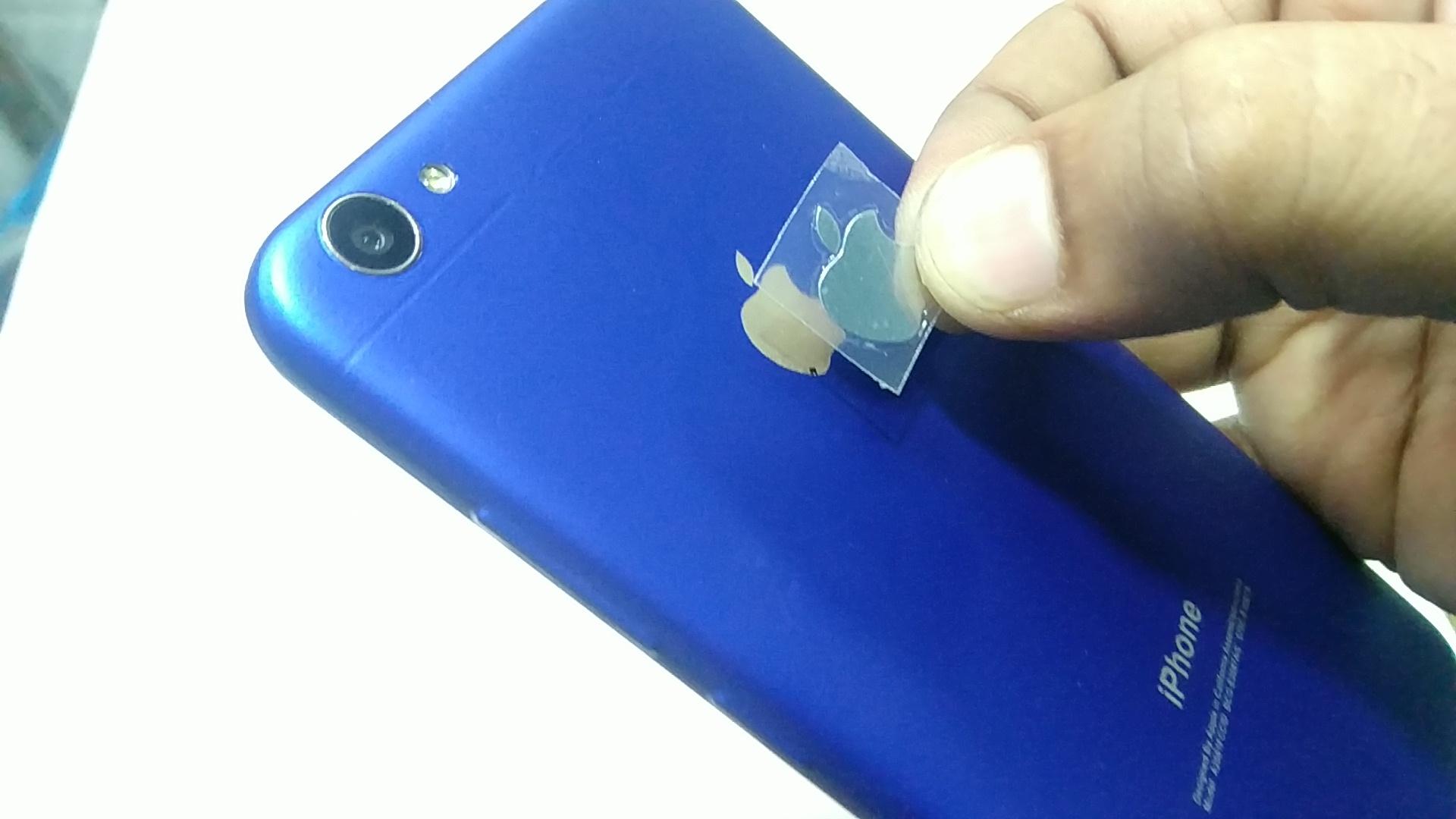 Metallic Matte Blue iPhone Lamination