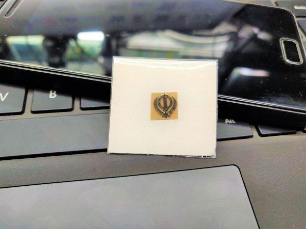 Khanda Gold Metal Logo
