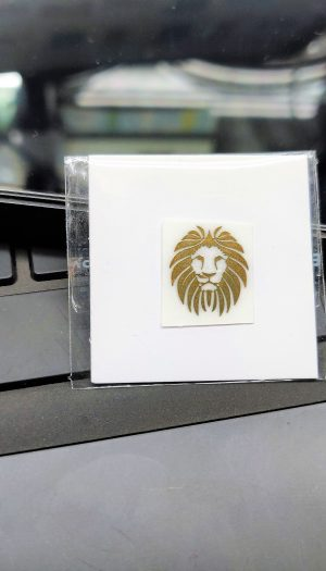 Lion Gold Metal Logo