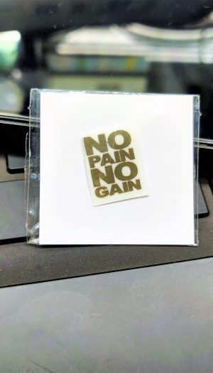No Gain No Pain Gold Metal Logo